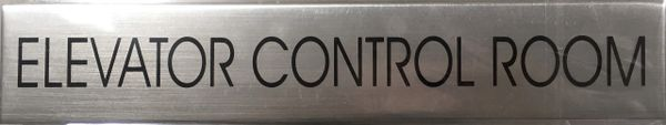 ELEVATOR CONTROL ROOM SIGN – BRUSHED ALUMINUM