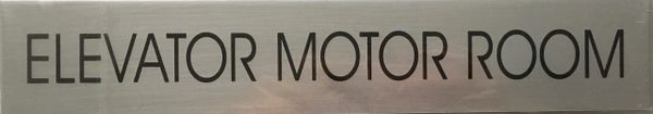 ELEVATOR MOTOR ROOM SIGN – BRUSHED ALUMINUM