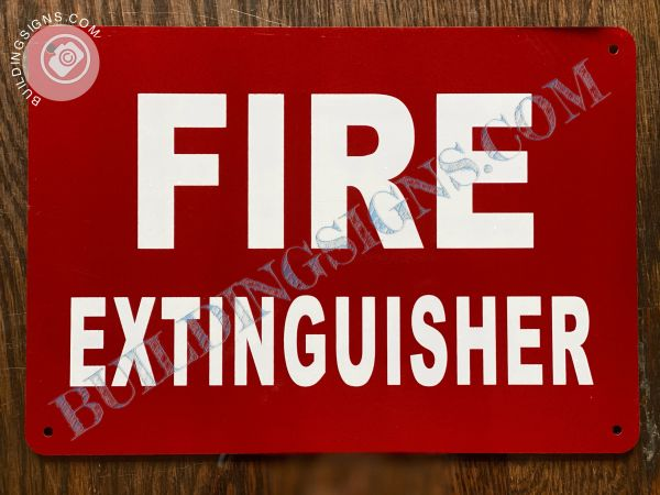 FIRE EXTINGUISHER SIGN (ALUMINUM SIGNS 7x10)