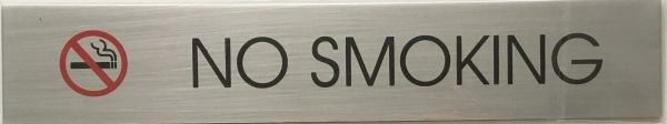 No Smoking SIGN - Brushed Aluminum
