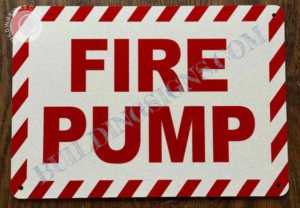FIRE PUMP SIGN (ALUMINUM SIGNS 7x10)