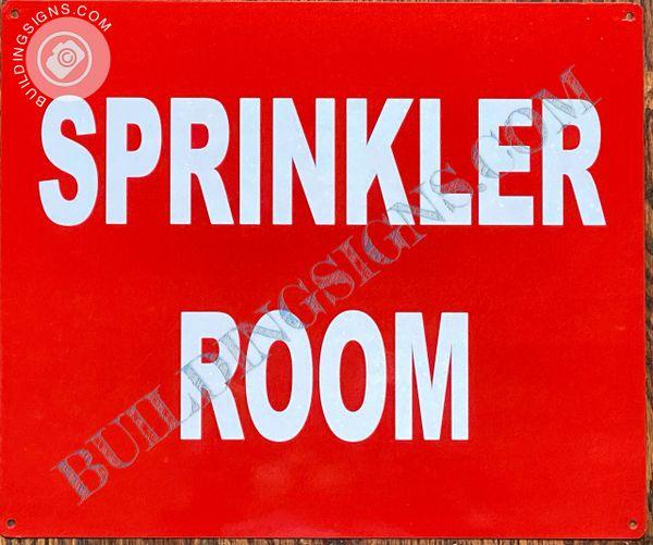 SPRINKLER ROOM SIGN (ALUMINUM SIGNS 10x12)