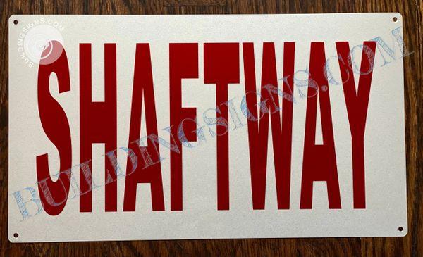 NY/ NJ SHAFTWAY SIGN (ALUMINUM SIGNS 8x14)