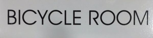 Bicycle Room SIGN – WHITE BACKGROUND