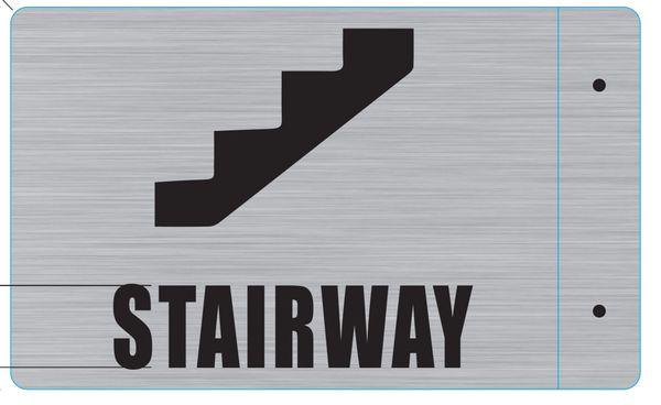 STAIRWAY HALLWAY SIGN- 3D (ALUMINUM SIGNS 7X10)