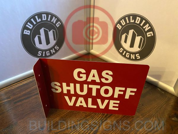 GAS SHUTOFF VALVE HALLWAY SIGN (ALUMINUM SIGNS 7X10)