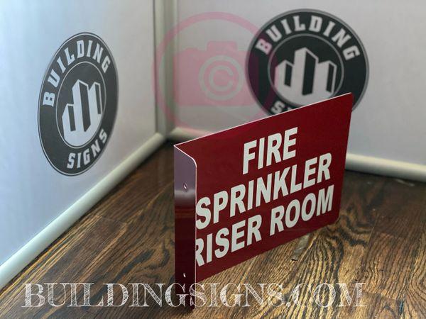 FIRE SPRINKLER RISER ROOM HALLWAY SIGN (ALUMINUM SIGNS 7X10)