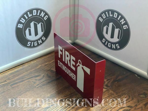 FIRE EXTINGUISHER HALLWAY SIGN (ALUMINUM SIGNS 7X10)