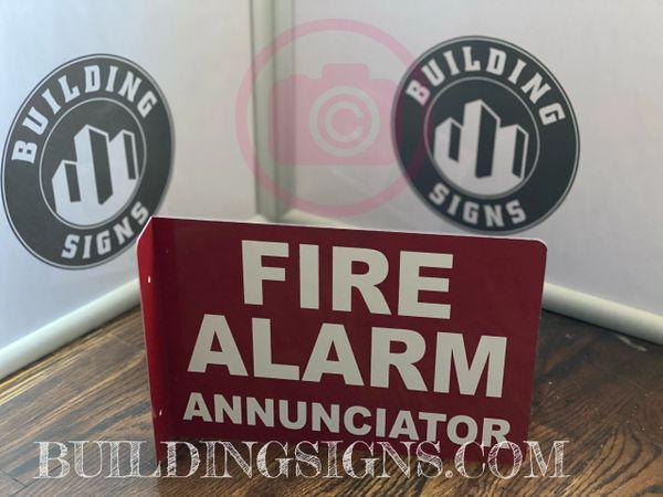 FIRE ALARM ANNUNCIATOR HALLWAY SIGN (ALUMINUM SIGNS 7X10)