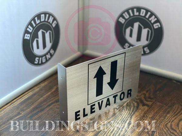 ELEVATOR HALLWAY SIGN (ALUMINUM SIGNS 7X10)