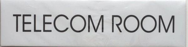 TELECOM ROOM SIGN – WHITE BACKGROUND