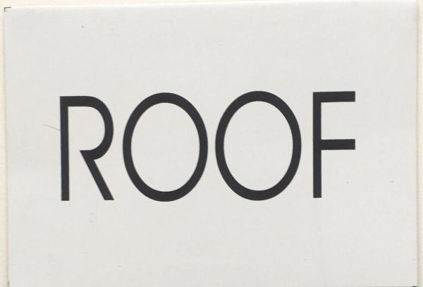 ROOF SIGN – WHITE BACKGROUND