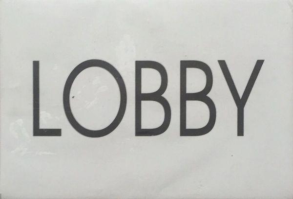 LOBBY SIGN - WHITE BACKGROUND