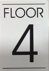 FLOOR NUMBER FOUR (4) SIGN – WHITE BACKGROUND