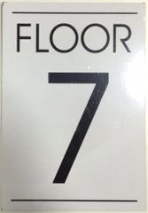 FLOOR NUMBER SEVEN (7) SIGN – WHITE BACKGROUND