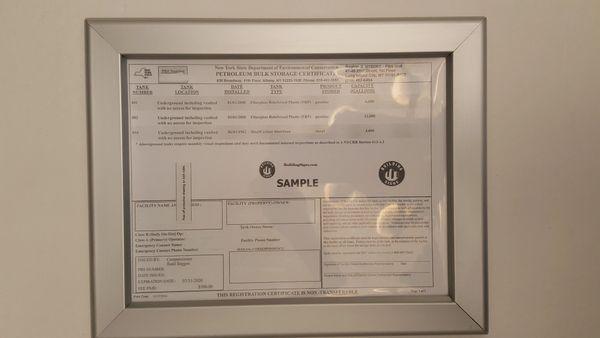 Storage Certificate Frame 8.5 x 11 NY ( Heavy Duty )