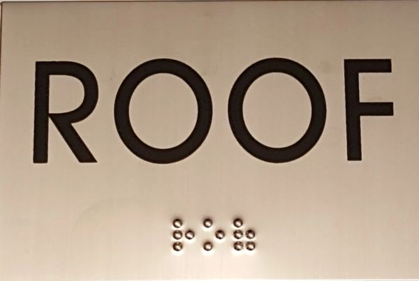 FLOOR NUMBER SIGN – ROOF SIGN STAINLESS STEEL (4X5.75)