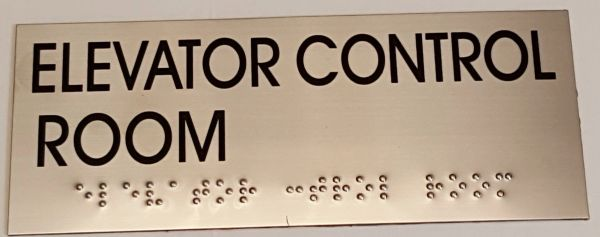 ELEVATOR CONTROL ROOM SIGN – STAINLESS STEEL (4X9.75)