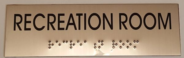 RECREATION ROOM SIGN – STAINLESS STEEL (3X9.75)