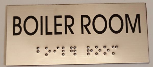 BOILER ROOM SIGN – STAINLESS STEEL (3X6.75)
