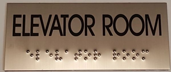 ELEVATOR ROOM SIGN – STAINLESS STEEL (3X6.75)