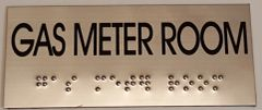 GAS METER ROOM SIGN – STAINLESS STEEL (3X6.75)