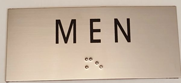 MEN SIGN – STAINLESS STEEL (3X6.75)