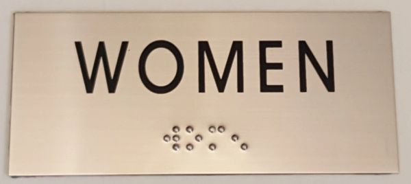 WOMEN SIGN – STAINLESS STEEL (3X6.75)