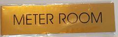 METER ROOM SIGN – GOLD ALUMINUM (2X7.75)