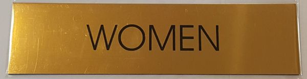 WOMEN SIGN – GOLD ALUMINUM (2X7.75)