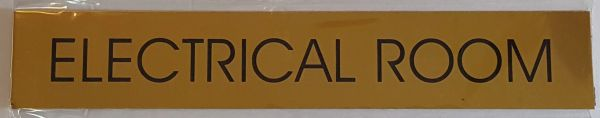 ELECTRICAL ROOM SIGN – GOLD ALUMINUM (2X11.75)