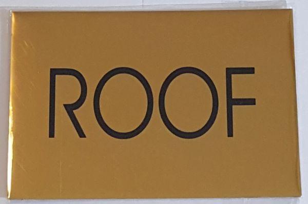 ROOF SIGN – GOLD ALUMINUM (4X5.75)