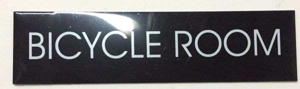 BICYCLE ROOM SIGN – BLACK (2X7.75)