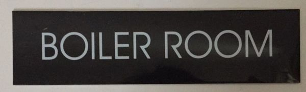 BOILER ROOM SIGN – BLACK (2X7.75)