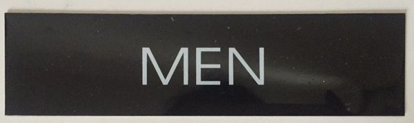 MEN SIGN – BLACK (2X7.75)