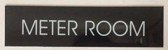 METER ROOM SIGN – BLACK (2X7.75)