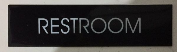 RESTROOM SIGN – BLACK (2X7.75)