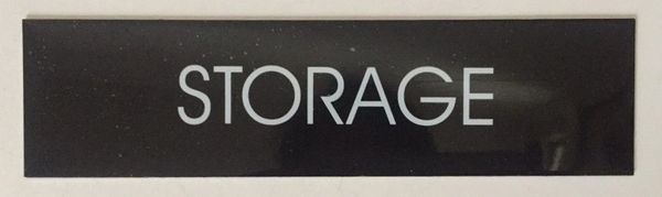 STORAGE SIGN – BLACK (2X7.75)