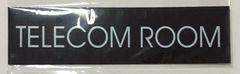 TELECOM ROOM SIGN – BLACK (2X7.75)