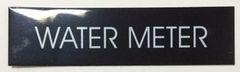 WATER METER SIGN – BLACK (2X7.75)