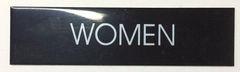 WOMEN SIGN – BLACK (2X7.75)