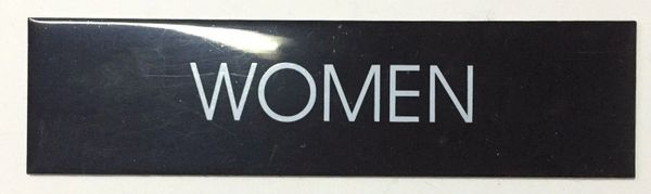 WOMEN SIGN – BLACK (2X7.75)