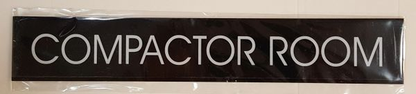 COMPACTOR ROOM SIGN – BLACK (2X11.75)