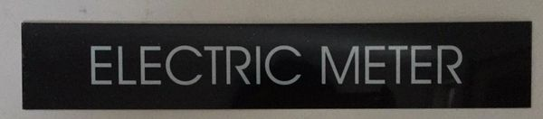 ELECTRIC METER SIGN – BLACK (2X11.75)