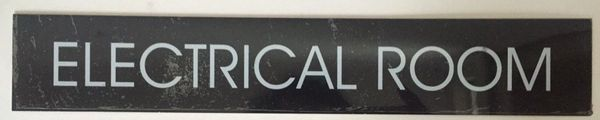 ELECTRICAL ROOM SIGN – BLACK (2X11.75)