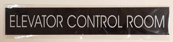 ELEVATOR CONTROL ROOM SIGN – BLACK (2X11.75)