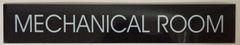 MECHANICAL ROOM SIGN – BLACK (2X11.75)