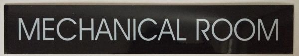 MECHANICAL ROOM SIGN – BLACK (2X11.75)