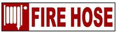 FIRE HOSE SIGN – PURE WHITE (2X14)