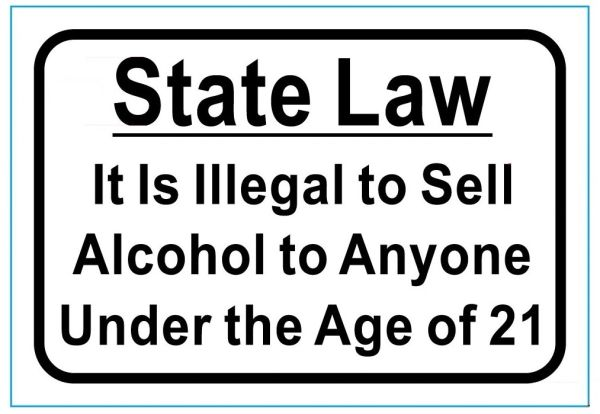 SALE OF ALCOHOL SIGN - PURE WHITE (4.5X6.5)